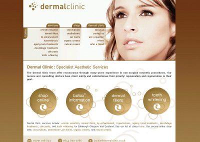 dermalclinnic health and Beauty Web Design Edinburgh