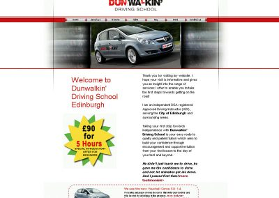 dunwalkin driving instructor Web Design Edinburgh