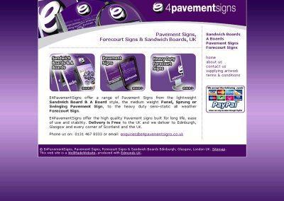 e4pavement Ecommerce Web Design Edinburgh.