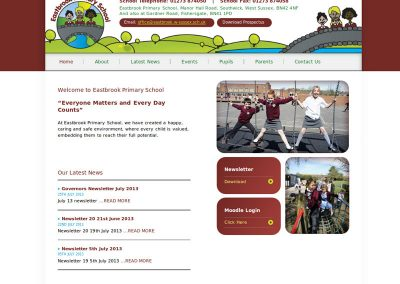 eastbrookSchool Web Design Edinburgh