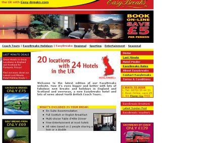 easybreaks Holiday Travel Web Design Edinburgh.