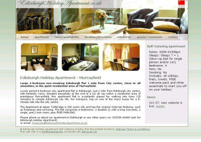 edinburgh-holiday-apartment Web Design Edinburgh