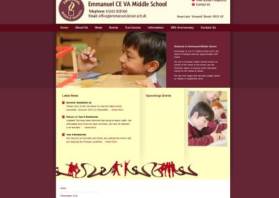 emmanuel school Web Design Edinburgh