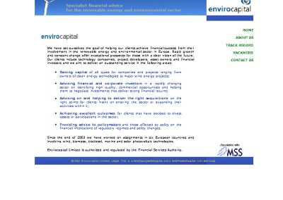 envirocapital Finance Web Design Edinburgh