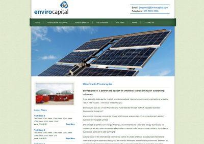 envirocapital financial services web Design Edinburgh