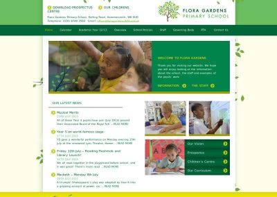 floragardens School Web Design Edinburgh