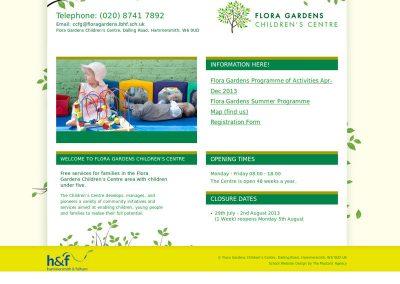 floragardenschildrencentre School Web Design Edinburgh