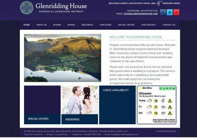 glenriddinghouse hotel Web Design Edinburgh