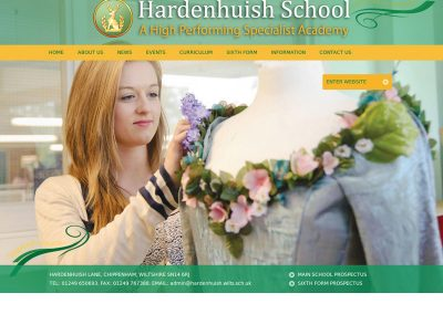 hardenhuishSchool Web Design Edinburgh