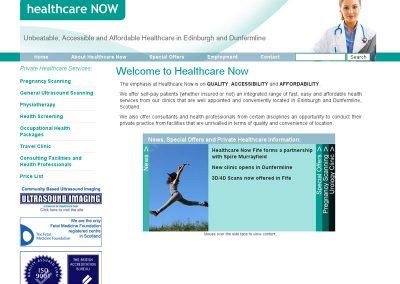 healthcarenow health Web Design Edinburgh
