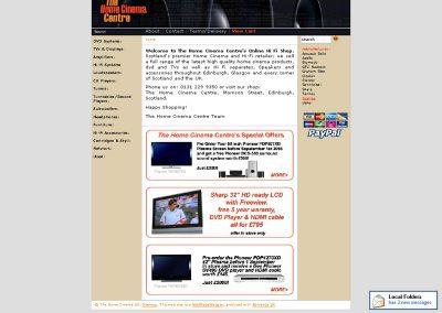 homecinema hifi ecommerce Web Design Edinburgh