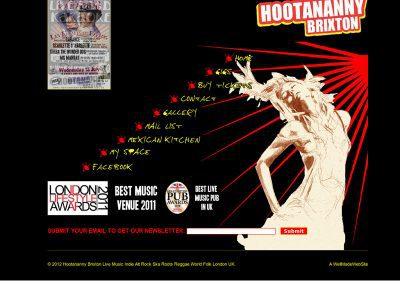 hootenanny pub Web Design Edinburgh