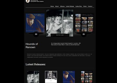houndsofrenown music Web Design Edinburgh