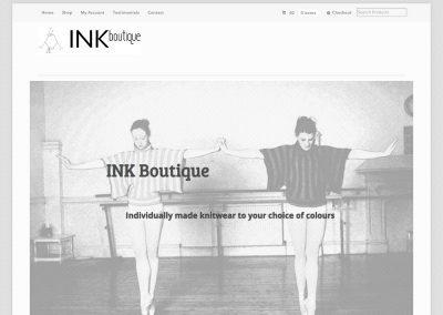ink boutique ecommerce Web Design Edinburgh