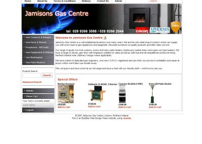 jamisons heating Web Design Edinburgh