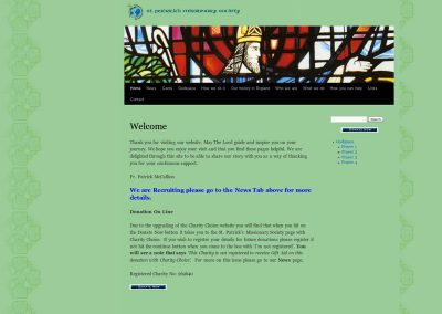 kilteganfathers Church Web Design Edinburgh
