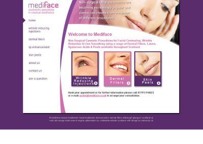 mediface health Web Design Edinburgh