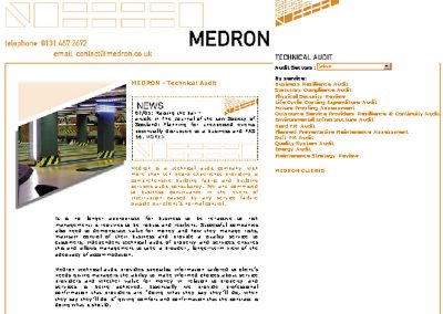 medron Health & Beauty Web Design Edinburgh