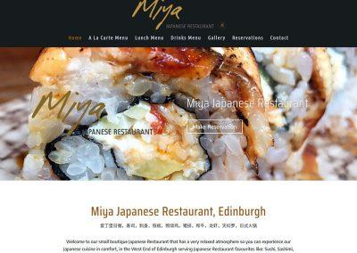 miya-japanese-restaurant Web Design Edinburgh