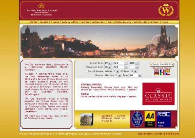 oldwaverley hotel Web Design Edinburgh