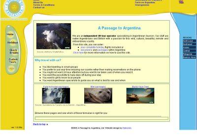 passagetoargentina Holiday travel Web Design Edinburgh