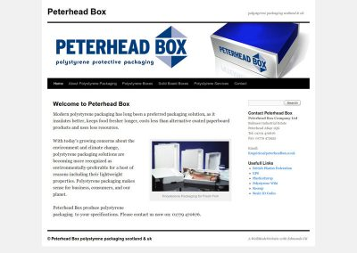 peterheadboxes packaging Web Design Edinburgh