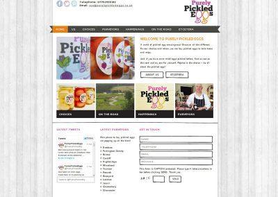 purelypickledeggs ecommerce Web Design Edinburgh