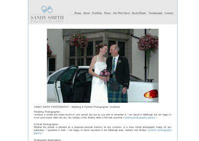 sandysmith-weddings Web Design Edinburgh