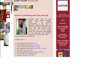 southside Hotel Web Design Edinburgh
