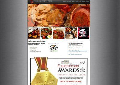 spiceloungekitchen restaurant Web Design Edinburgh