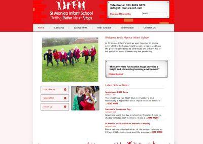 st-monica-infant School Web Design Edinburgh