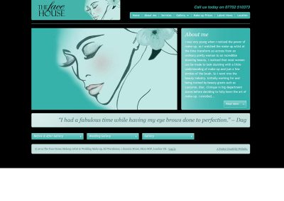 thefacehouse beauty Web Design Edinburgh