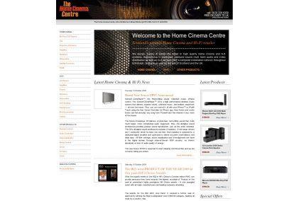 thehomecinemacentre- Web Design Edinburgh
