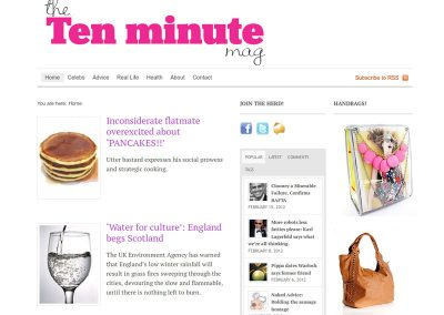 thetenminutemagagazine Web Design Edinburgh