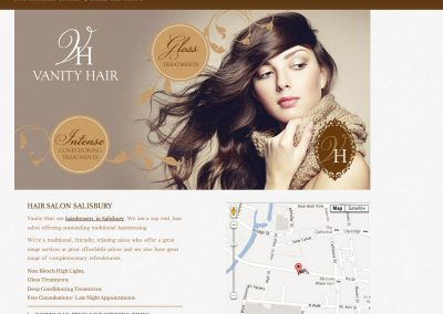 vanityhair Web Design Edinburgh