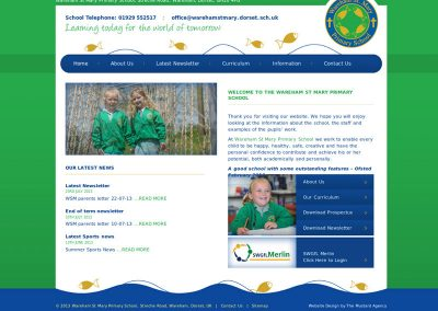 warehamstmary School Web Design Edinburgh