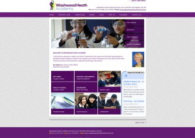 washwood-heath School Web Design Edinburgh
