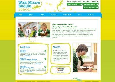 westmoors school Web Design Edinburgh