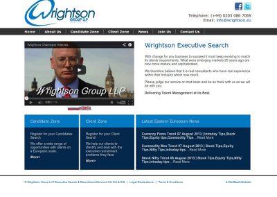 wrightson financial services Web Design Edinburgh