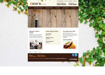 xeniscuisine Web Design Edinburgh