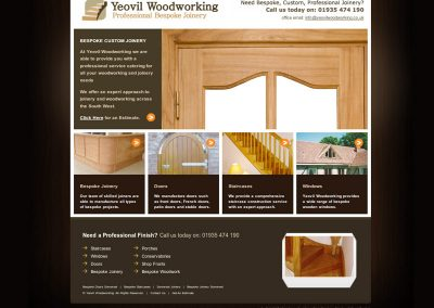 yeovilwoodworking Web Design Edinburgh